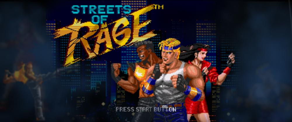 écran d'accueil du jeu vidéo Street of rage
