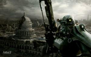 Vue sur les ruines de Washinton dans Fallout 3