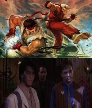 Ryu et Ken, avant et après avoir regardé Twilight