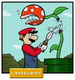 Et oui, Mario est jardinier, parfois, mais intérimaire souvent