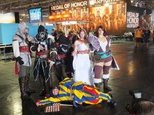La Gamescom et ses cosplayeurs ! Ici, Assassin's Creed, bien sûr !