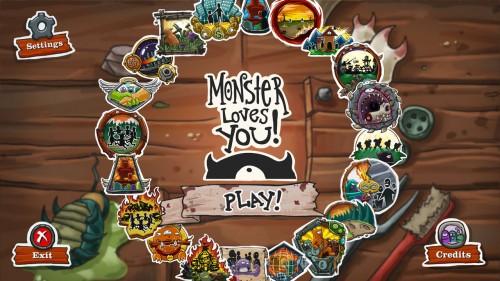 Goreroll_Crayd_Andy_Vennet_Monster_loves_you-_Main_menu