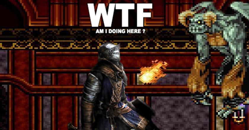 Goreroll jette un petit coup d'oeil à Chasm. Un jeu qui marie Dark Soul et Metroidvania